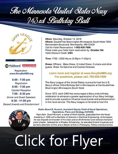 The Minnesota United States Navy 243rd Birthday Ball