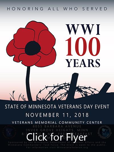 State of Minnesota Veterans Day 2018 Poster