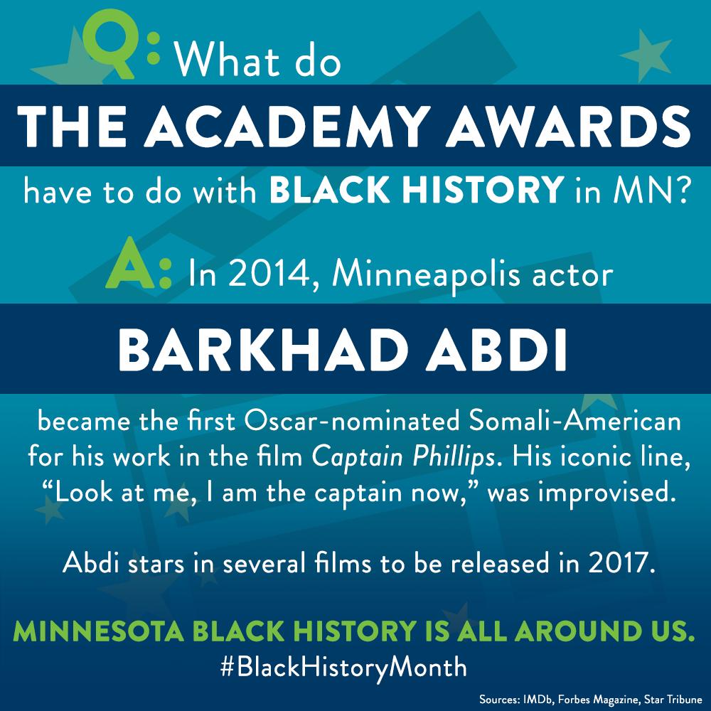 Black History Month: Barkhad Abdi