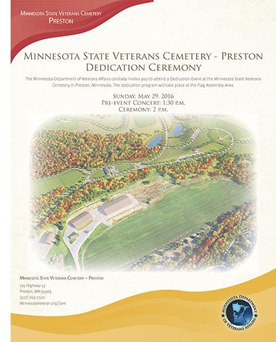 minnesota state veterans cemetery preston dedication